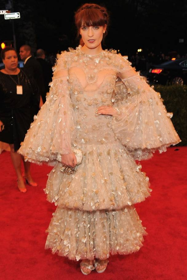 2012 Florence Welch wearing Alexander McQueen
