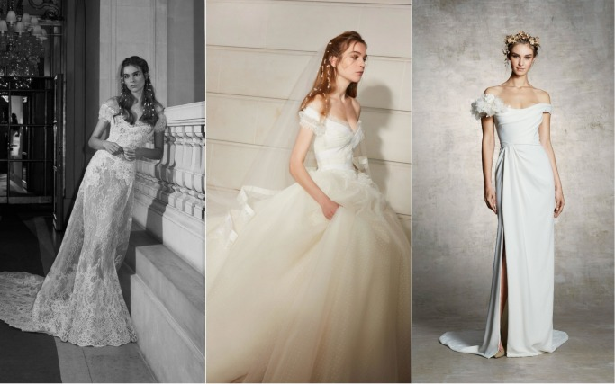 Spring 2019 Bridal Collections Off-the-shoulder
