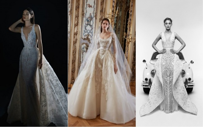 Spring 2019 Bridal Collections Open-Front Skirts