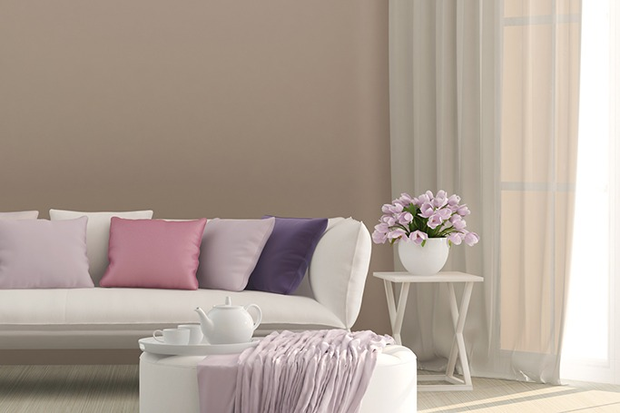 colorful couch cushions