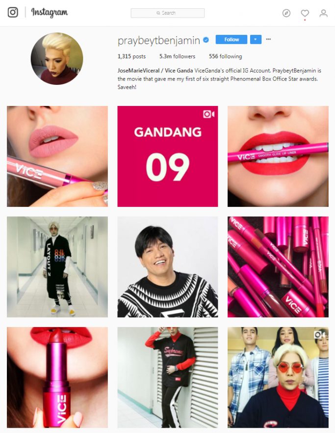 Vice Ganda - Pinoy on Instagram