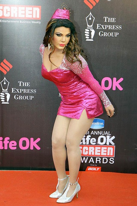 Rakhi Sawant at the Life Ok Screen Awards 2015