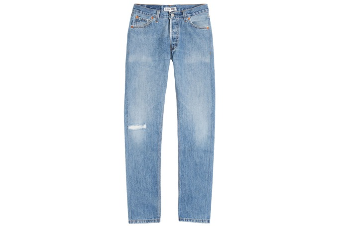 Re/Done - Distressed Skinny Jeans