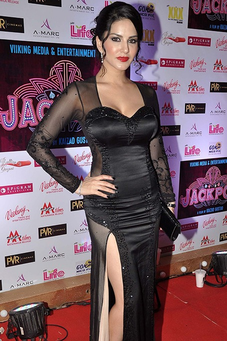 Sunny Leone at the Jackpot movie premiere in 2013