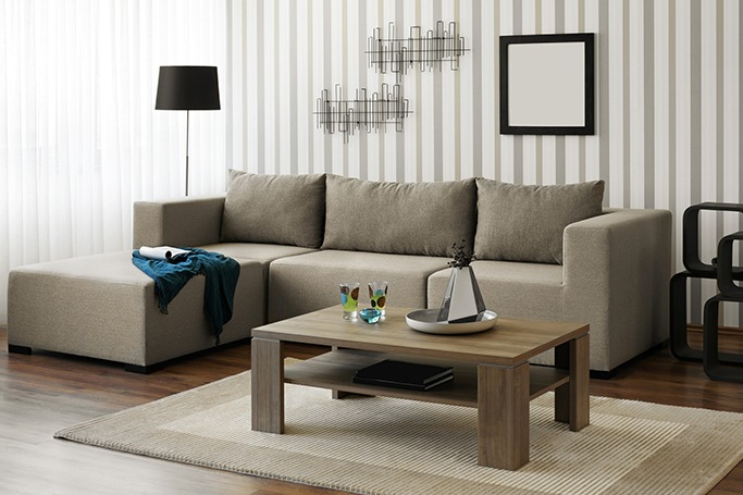 wooden accents living room