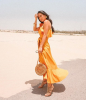 Dubai's Best Dressed: Yellow summer street style 1