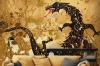 Dragon On A Background Grunge Wallpaper Mural