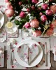 rose petals and napkins