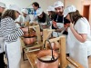 A cheesemaking class led by Marc Bubosson
