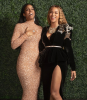 Beyoncé and Kelly Rowland in Middle Eastern designers