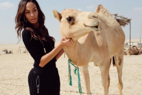 Supermodel Joan Smalls Visits Abu Dhabi