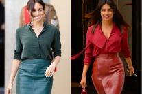 Priyanka Chopra Channels Meghan Markle's Monochrome Look
