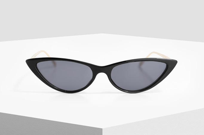 MANGO Black Cat Eye Sunglasses