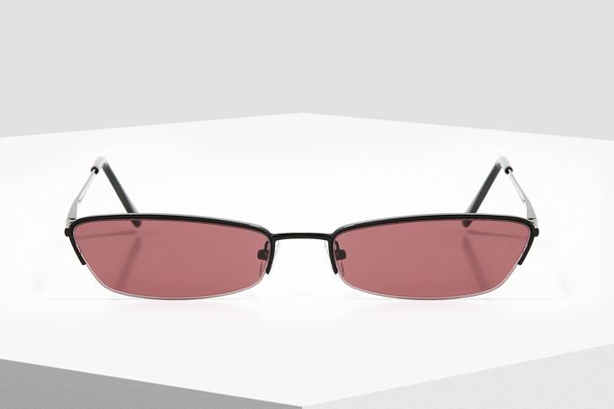 Forever 21 Black and Burgundy Rectangular Sunglasses