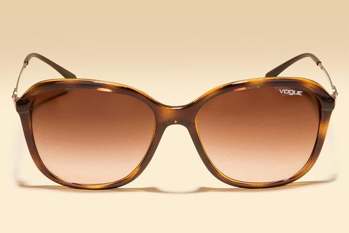 Vogue Eyewear Brown Gradiant Square Sunglasses