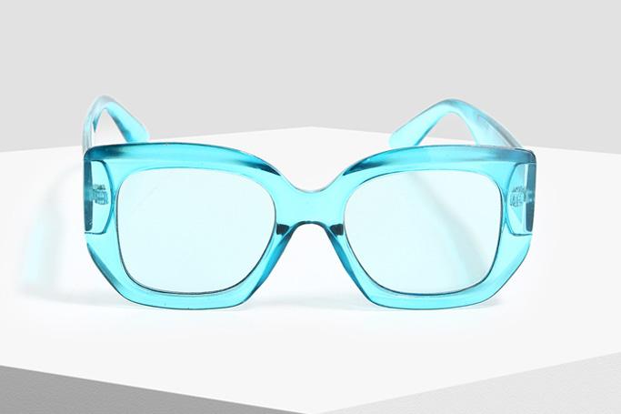 Forever 21 Blue Thick Framed Sunglasses