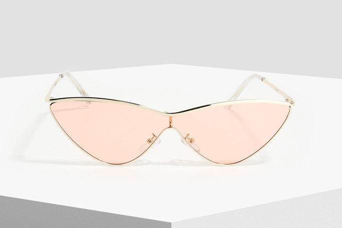 Forever 21 Gold and Pink Cat-Eye Sunglasses