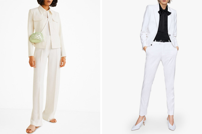 How to wear a white trouser suit