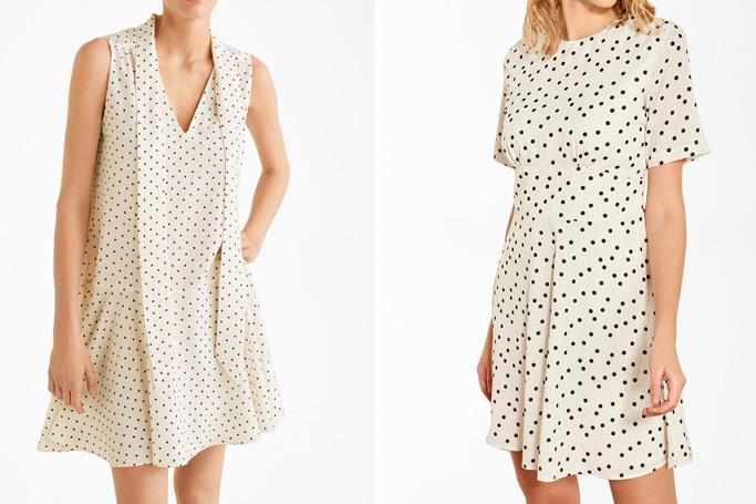How to wear white polka dot